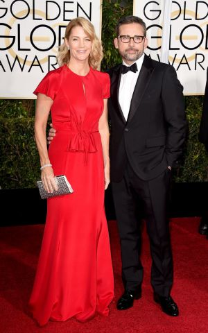 Golden Globes 2015 fashion - Nancy Carell in Carolina Herrera and Steve Carell in Berluti.jpg