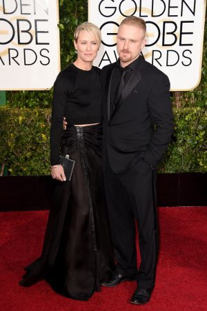 Golden Globes 2015 fashion - Robin Wright and Ben Foster.jpg