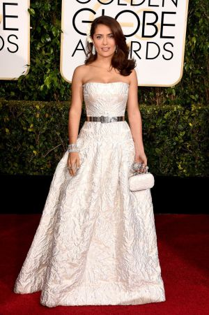 Golden Globes 2015 fashion - Salma Hayek in Alexander McQueen.jpg