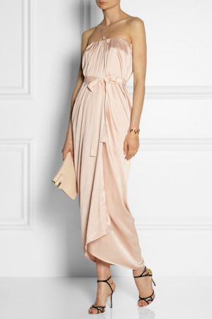DAY BIRGER ET MIKKELSEN Sumner wrap-effect silk-satin gown
