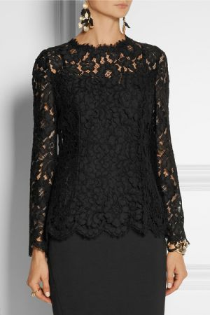 DOLCE and GABBANA Black lace top
