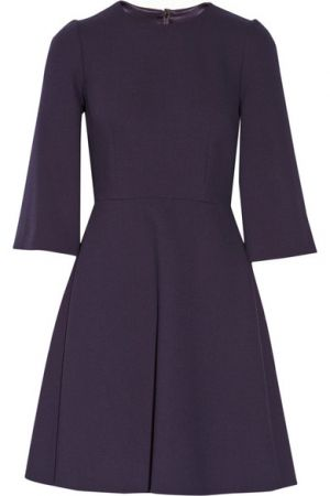 DOLCE and GABBANA Stretch-wool crepe mini dress