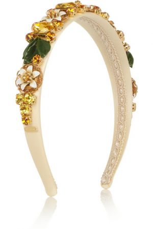 DOLCE and GABBANA Swarovski crystal-embellished silk headband
