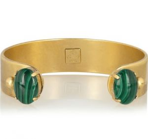 FINDS and  Ela Stone Gina gold-plated malachite cuff