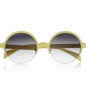 FINDS and Italia Independent round-frame metal sunglasses