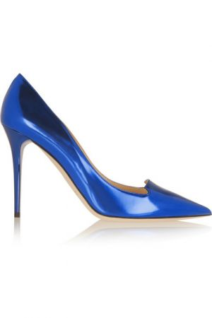 JIMMY CHOO Avril mirrored-leather pumps