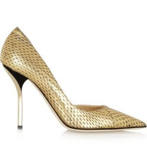 JIMMY CHOO Willis metallic elaphe pumps