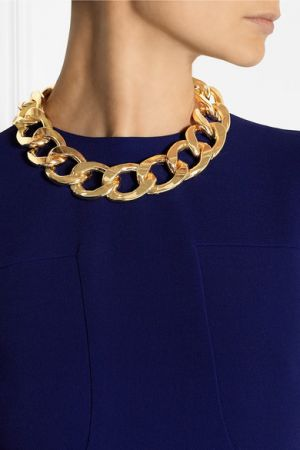 KENNETH JAY LANE Gold-plated chain-link necklace