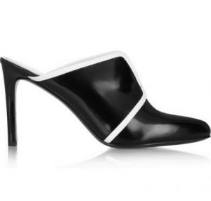 KENZO Two-tone patent-leather mules