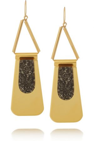 MARNI Gold-plated pyrite earrings.jpg
