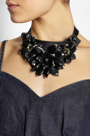 MARNI and VandA Swarovski crystal and resin necklace