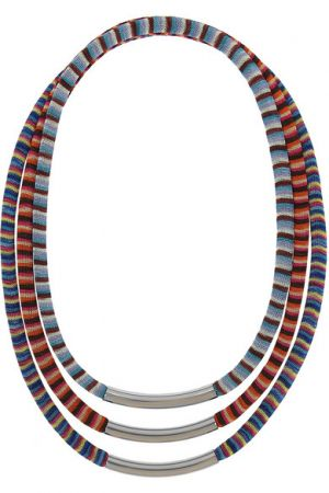 MISSONI and VA set of three palladium-plated woven necklaces