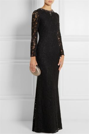 NEEDLE and THREAD Embellished floral-lace gown