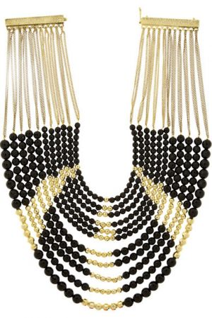 ROSANTICA Raissa gold-plated onyx necklace
