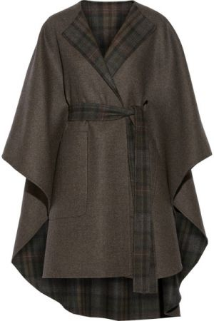 THE ROW Tonpell reversible virgin wool and angora-blend cape