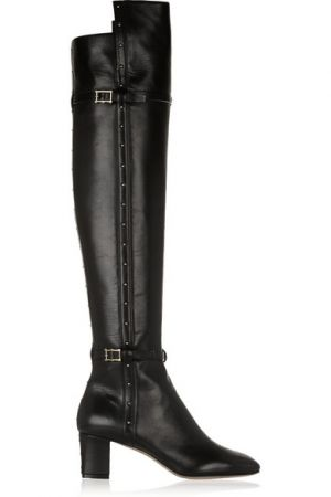 VALENTINO Studded leather over-the-knee boots