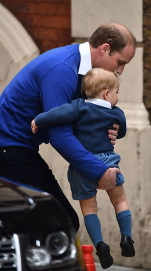 2015 Prince George of Cambridge at the hospital to meet his baby sister.jpg