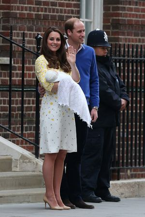 Outside the hospital - Kate and William present their new daughter.jpg
