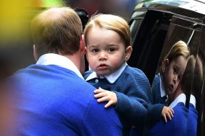 Prince George at the hospital to meet his baby sister 2015.jpg