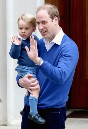 Prince George of Cambridge arrives to meet his baby sister.jpg
