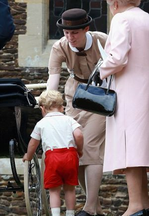 Nanny Maria Borrallo in her Norland nanny uniform with Prince George.jpg