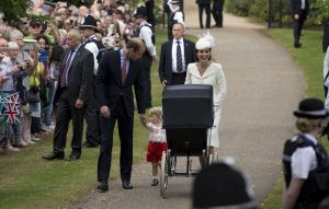 Princess Charlotte christening at St Mary Magdalene Church - Sandringham - greeting wellwishers.jpg