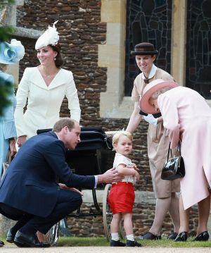 Princess Charlotte christening at St Mary Magdalene Church in Sandringham with the Queen2.jpg
