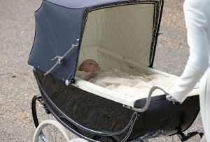 Princess Charlotte in her traditional pram - christening in Sandringham2.jpg