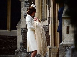 Princess Charlotte with her mother Kate Middleton - christening Sandringham2.jpg