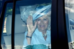 The Duchess of Cornwall wore pale blue to the Princess Charlotte christening2.jpg