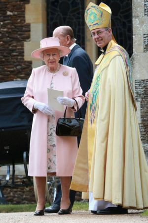 The Queen outside the church.jpg