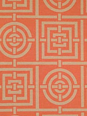 Ottoman in Circles & Squares-florence broadhurst coral.jpg
