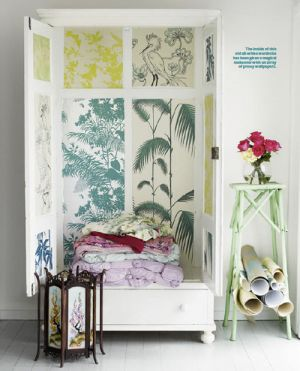 florence broadhurst prints - Shannon Fricke Wallpapered cupboard.jpg