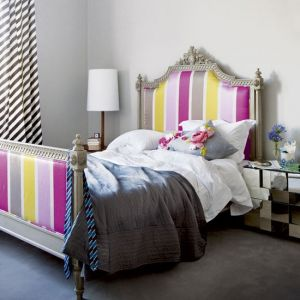 ornate bed at Lucy Willow, fabric from Designers Guild, cushions from Wild At Heart.jpg