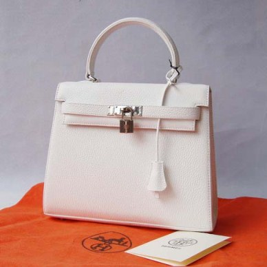 white hermes purse