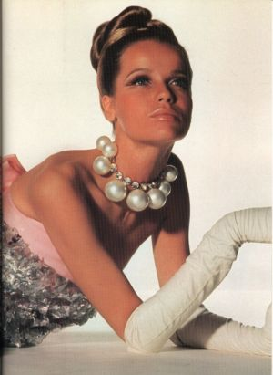 Veruschka - 1966 Sarmi evening dress