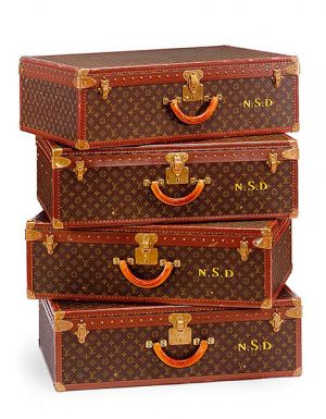 Vintage luggage - mylusciouslife.com - Stacked Louis Vuitton suitcases.jpg
