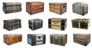 Vintage luggage - mylusciouslife.com - Various travel chests luggage trunks.jpg