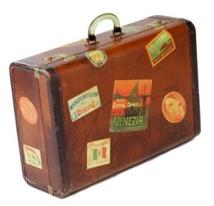 Vintage luggage - mylusciouslife.com - Vintage suitcase covered in stickers2.jpg