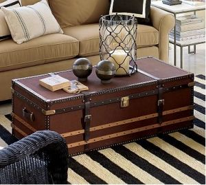 Delicieux JPG Vintage Luggage Mylusciouslife.com Vintage Trunk Used As Coffee  Table .