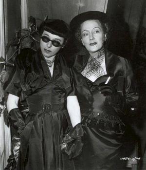 Glamour and style - Edith Head and Gloria Swanson in costume for Sunset Blvd 1950.jpg