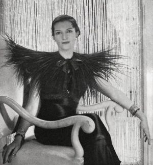 Marguerite Severine Philippine Decazes de Glucksberg, better known as Daisy Fellowes, wearing Schiaparelli in 1933.jpg