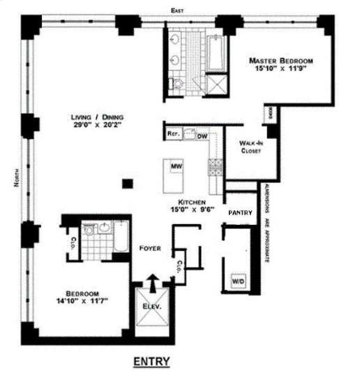 Manhattan Apartments Floor Plans