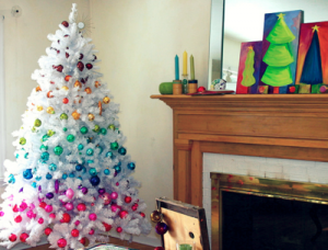An Australian Christmas - mylusciouslife.com - christmas tree with coloured baubles.png