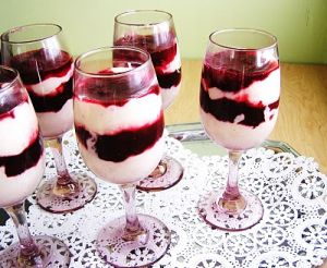 Luscious Christmas feast - mylusciouslife.com - Christmas mascarpone and cranberry parfaits.JPG