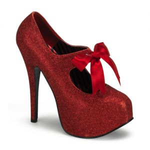 Bordello - TEEZE Heel Glitter Platform ribbon Bow Tie Red Mini Glitter.jpg