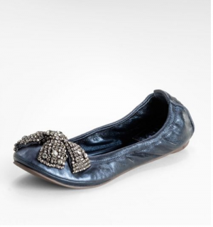 Christmas inspired bow sparkle ballet shoes tory burch.png