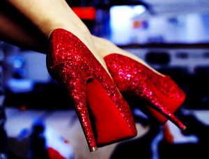 Festive frockage ideas - mylusciouslife.com -  red sparkle glitter shoes.jpg
