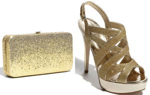 Festive frockage ideas - mylusciouslife.com - Gold clutch and heels_LATimes.jpg