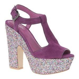 Festive frockage ideas - mylusciouslife.com - aldo purple platform glitter shoes.jpg